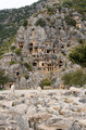 Lycian rock cut tombs