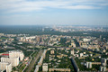 View of Moscow from Ostankino tower